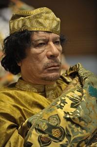 Gaddafi setzt auf Gold - auch farblich