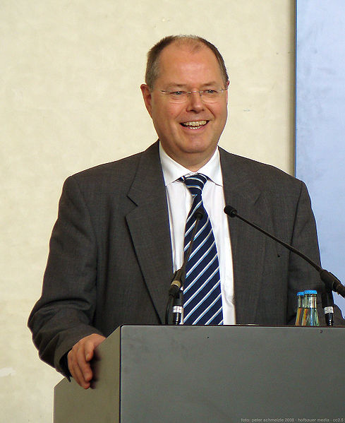 Finanzminister Peer Steinbrück (Foto:Peter Schmelzle via Wikipedia)